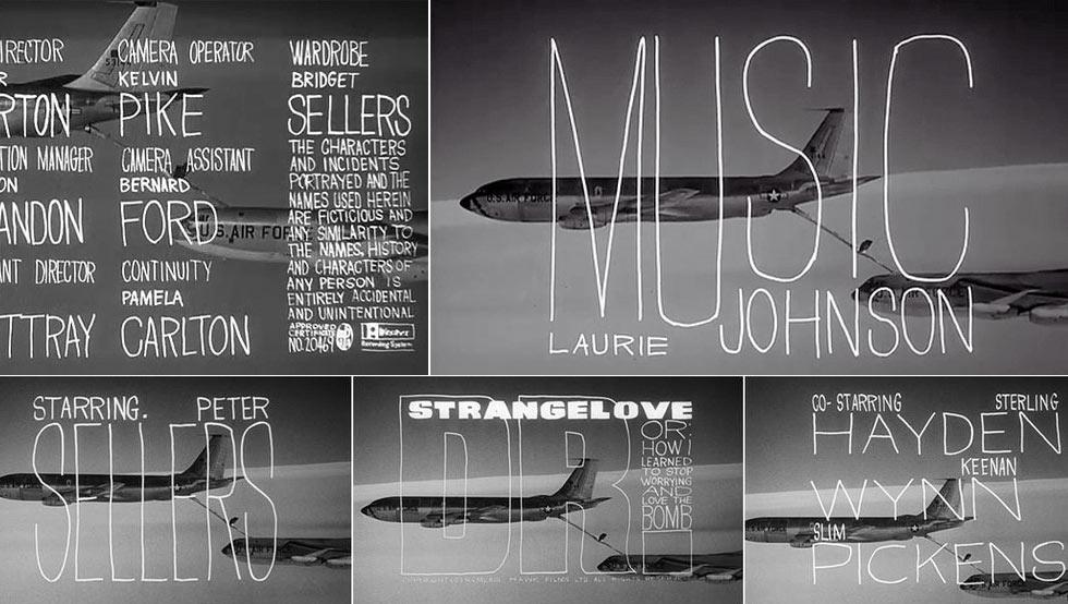 Dr. Strangelove titleSequence by Pablo Ferro